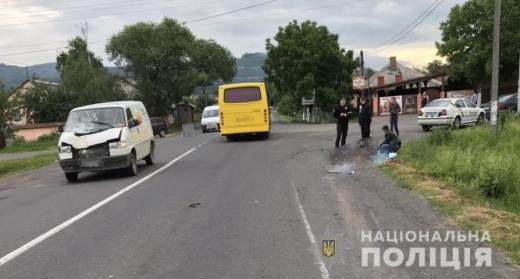 На Ужгородщині мікроавтобус збив насмерть жінку