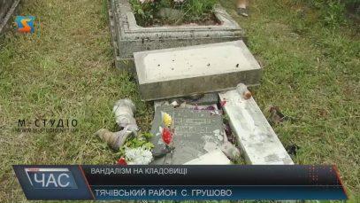 В селі на Тячівщині невідомі вандали пошкодили 40 надгробків на цвинтарі (ВІДЕО)