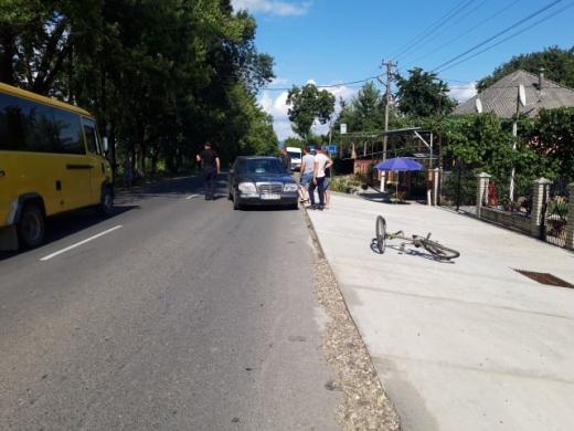На Виноградівщині водій іномарки збив 9-річного велосипедиста