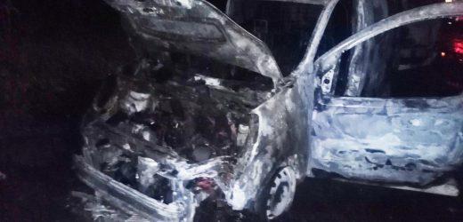 Уночі в Ужгороді згорів автомобіль