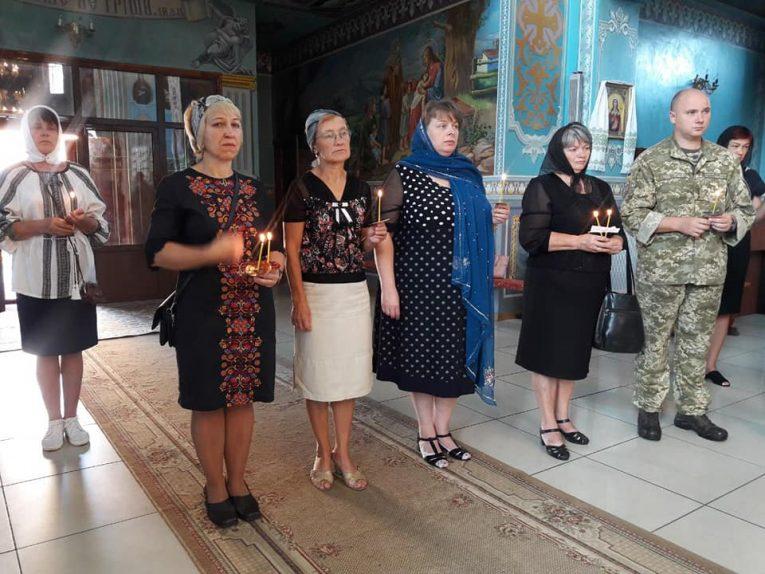 У Млинові провели панахиду за Героєм війни з Росією Романом Галасом (фото)