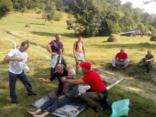 На Рахівщині відшукали дідуся, який загубився кілька днів тому