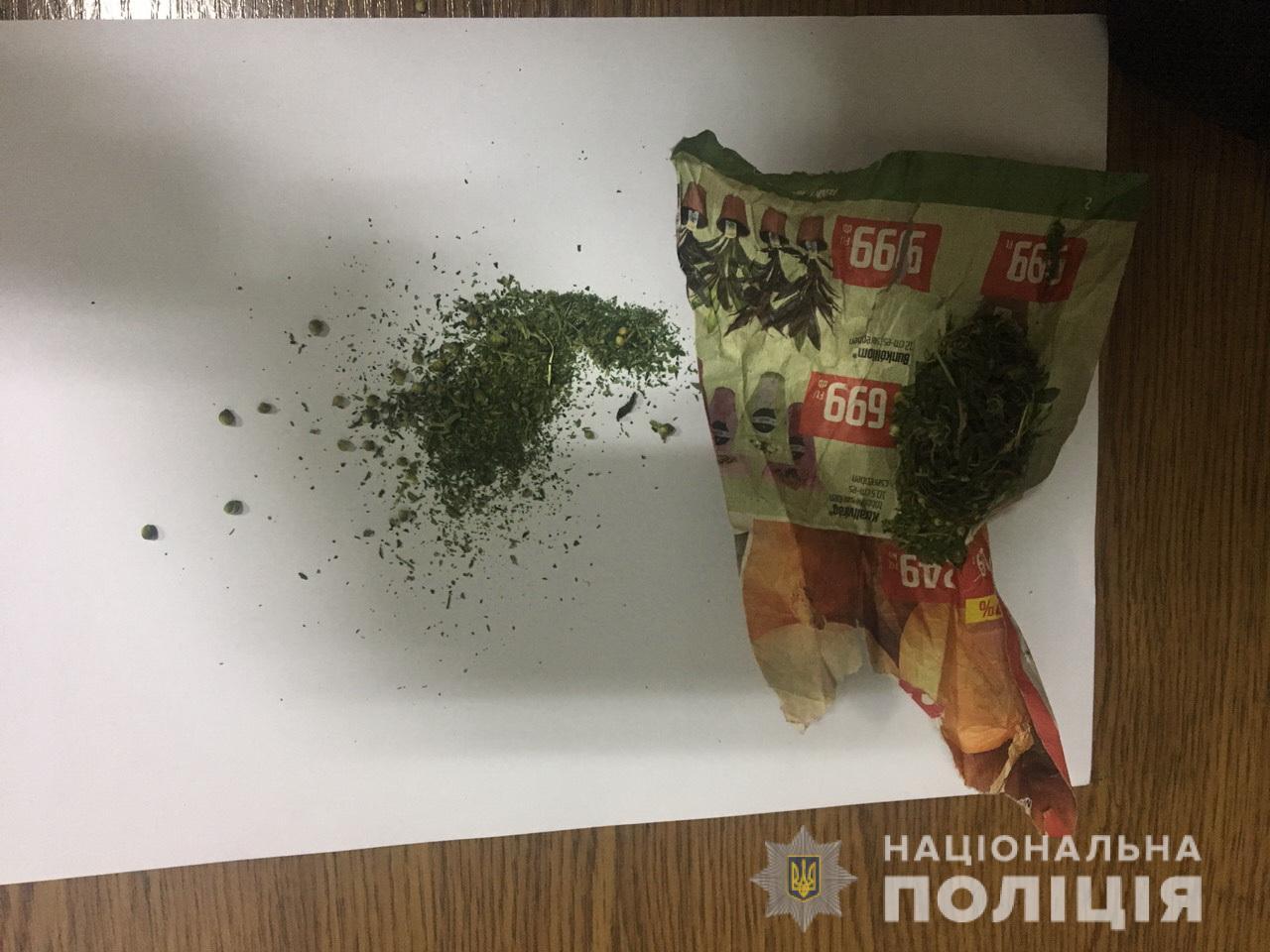 На Ужгородщині патрульні знайшли марихуану в неповнолітнього