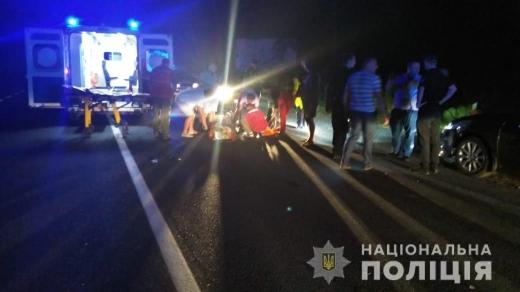 На Свалявщині водій збив п'яного пішохода, який раптово вибіг на дорогу