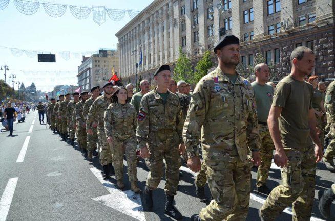 Закарпатські добровольці доєдналися до урочистої ходи на честь Дня Незалежності України (фото)