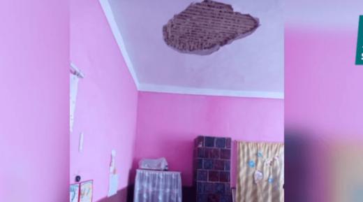 У дитсадку на Виноградівщині обвалився метровий шмат стелі (ВІДЕО)