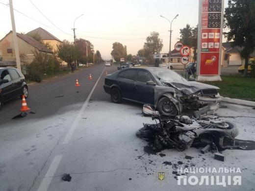 В Мукачеві жінка за кермом авто смертельно травмувала мотоцикліста
