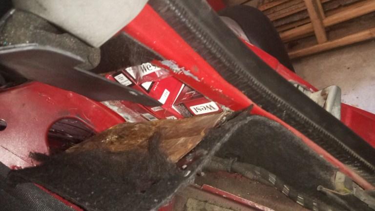 """На ПП """"Малий Березний"""" вилучили автівку разом з контрабандними цигарками"""