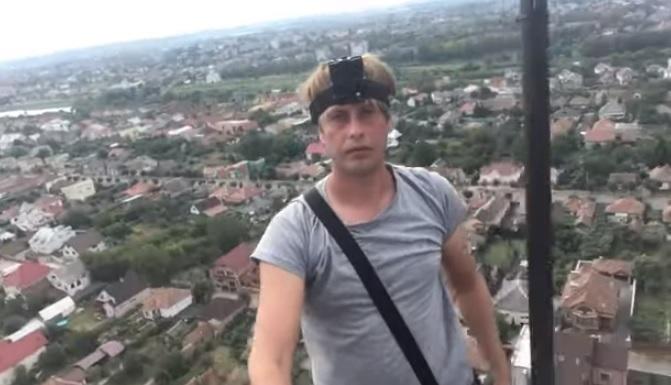 Руфер Ігор Степанов оприлюднив повне відео сходження на одну з найвищих точок Мукачева (відео)