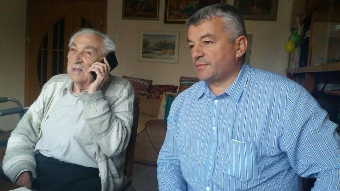 Директор Ужанського нацпарку Віктор Биркович зустрівся з 100 річним патріархом біологічних наук Степаном Стойко