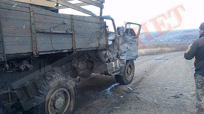 У 128 бригаді підтвердили підбиття сепаратистами вантажівки та поранення 4-х військовослужбовців