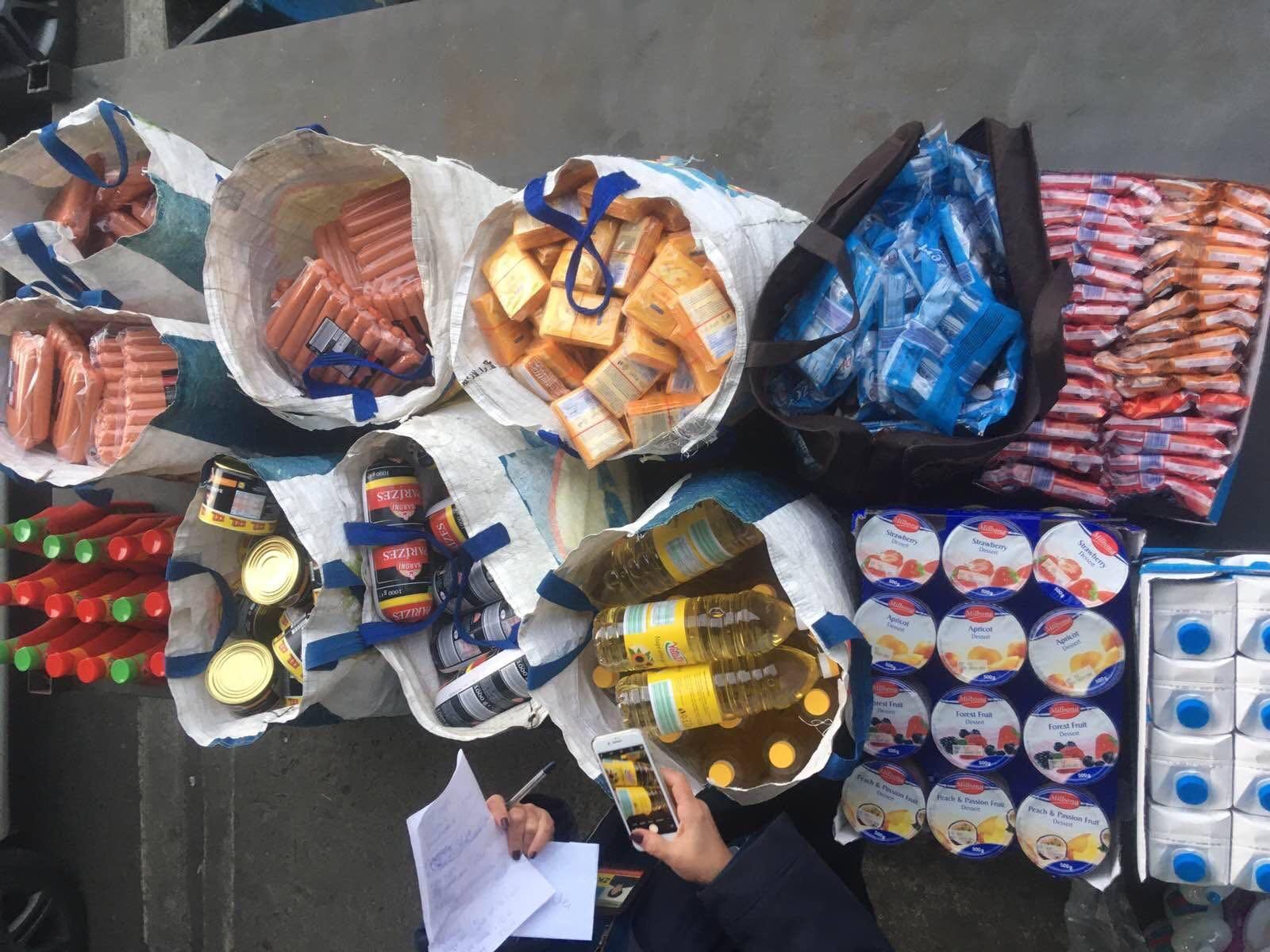 На кордоні митники вилучили у закарпатця понад 208 кг харчових продуктів
