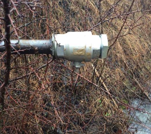 На Берегівщині виявили незаконну врізку в нафтопровід