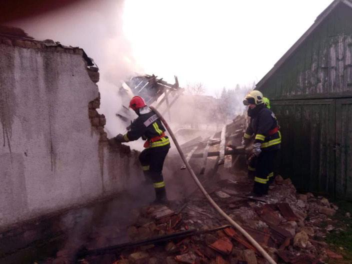 У Перечині під час пожежі чоловік отримав опіки 30% тіла