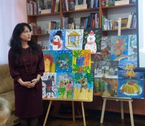 """Юні вихованці мистецької студії """"Золота палітра"""" представили свої роботи на виставці в Ужгородській міській бібліотеці"""