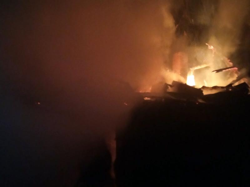 На Свалявщині згоріла лазня – люди, які в ній відпочивали, встигли врятуватися