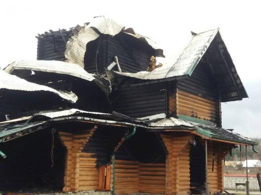 У Іршаві згоріла дерев'яна церква