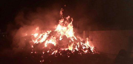 На обійсті закарпатця згоріло 10 тонн сіна