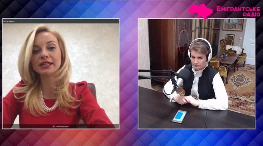 Директор Ужгородського інституту культури і мистецтв Наталія Шетеля в ефірі каналу Емігрантське радіо (відео)