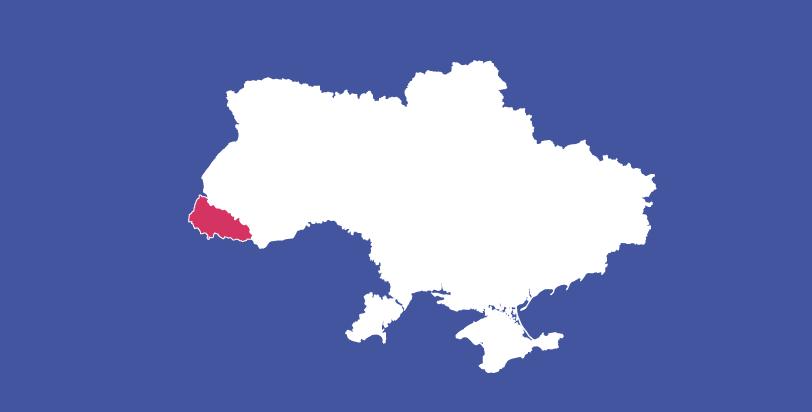 Політична карта Закарпатської області