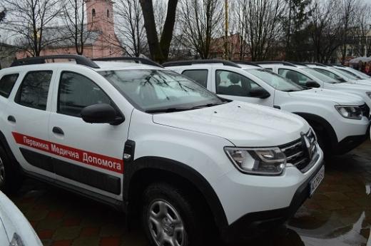 Амбулаторії Іршавщини отримали 16 нових автомобілів