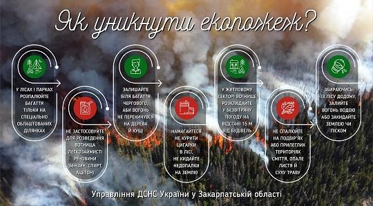 Протягом доби на Закарпатті сталося 38 пожеж в екосистемах