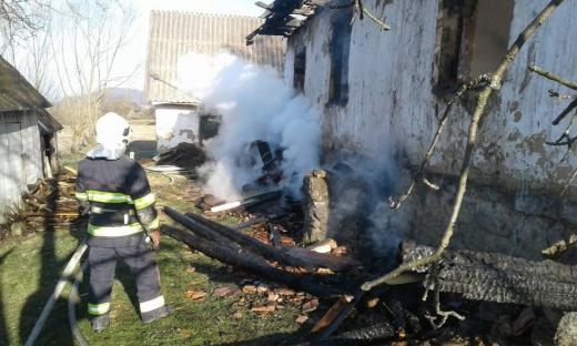 Пожежа зруйнувала будинок 86-річної закарпатки