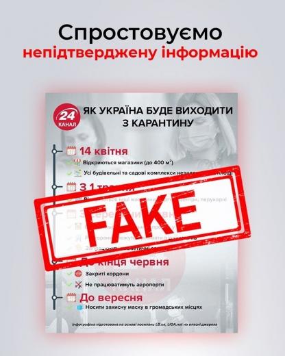 В СБУ спростували фейк про поступовий вихід з карантинних обмежень