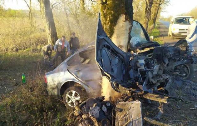 На Іршавщині сталася смертельна ДТП – автомобіль врізався у дерево