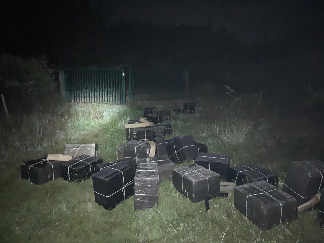 Закарпатські прикордонники затримали контрабандиста і виявили 50 ящиків з цигарками