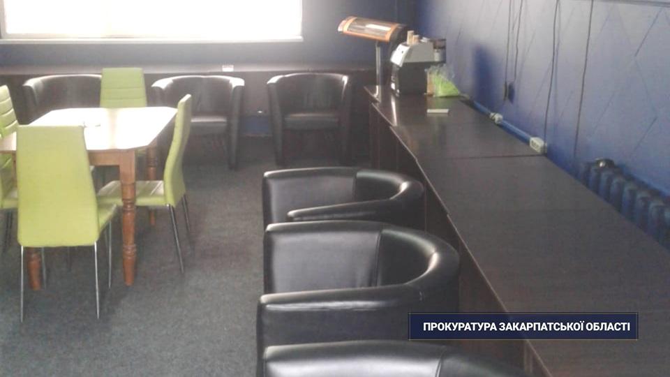 У кафетерії в одному з сіл Тячівщини виявили підпільну ігротеку