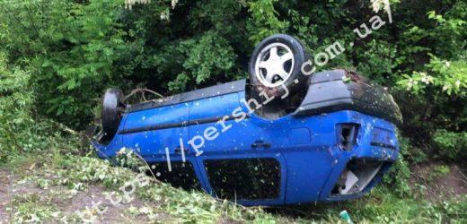 На Мукачівщині автівка перекинулася на дах
