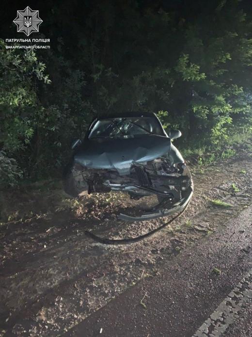 В Ужгороді на об'їзній водій не впорався з керуванням та вилетів у кювет