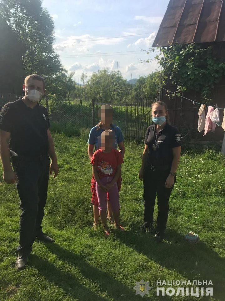 Правоохоронці Перечинщини оперативно розшукали 11-річну дівчинку, що загубилася у лісі