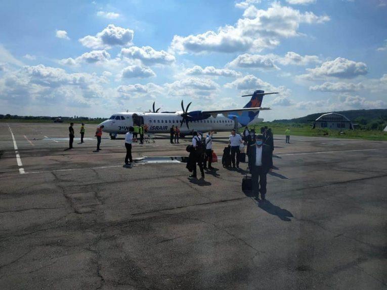 Ужгородський аеропорт прийняв чартерний літак із Ізраїлю