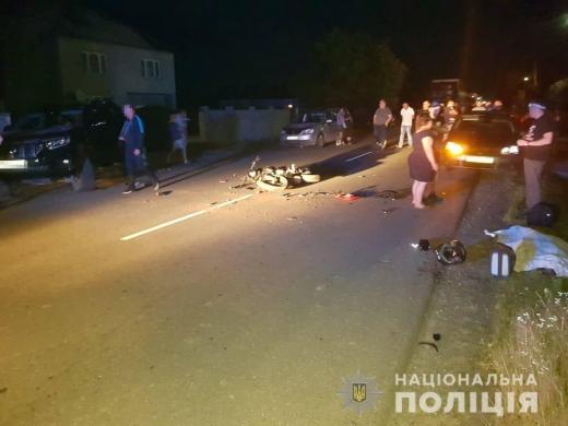 """На Виноградівщині зіткнулися мотоцикл і """"Toyota"""" – загинув 18-річний мотоцикліст"""