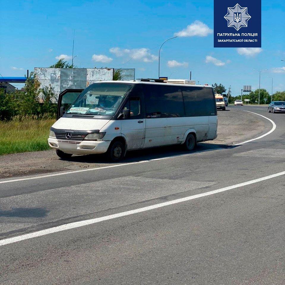 При в'їзді в Ужгород склали протокол на водія, що здійснював міжрайонний рейс із порушенням карантинних вимог