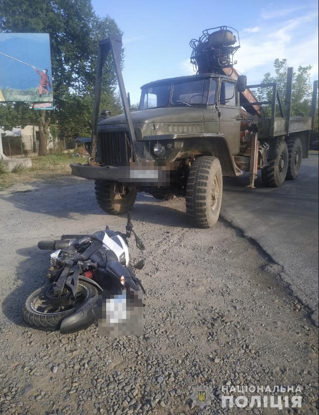 У Іршаві зіткнулися мотоцикл та вантажівка – мотоцикліст загинув на місці