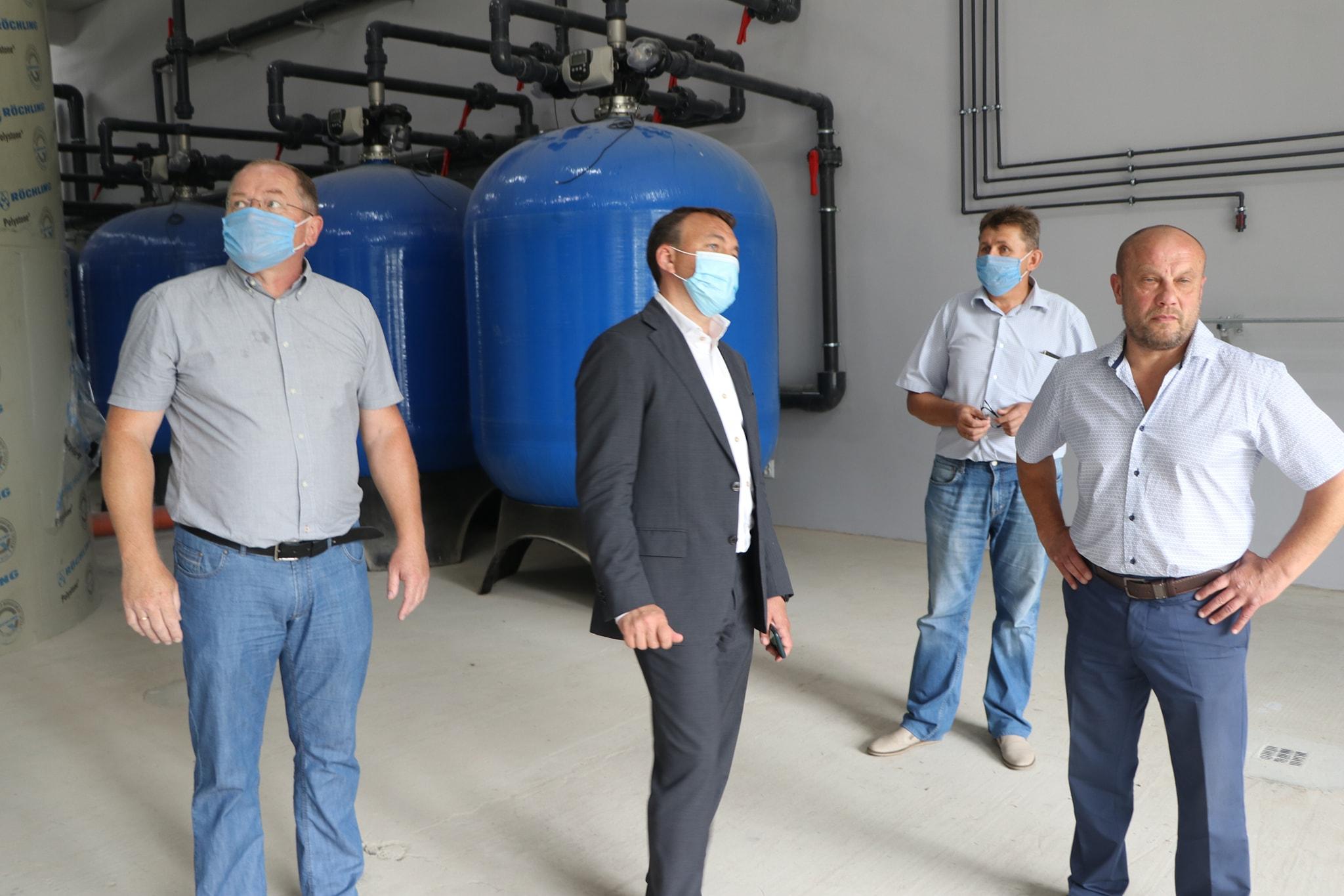 Олексій Петров побував на будівництві нового водозабору в Чопі (фото)