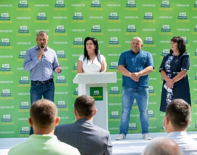 Слуги народу презентували виноградівську команду на місцеві вибори