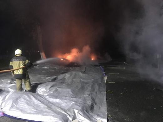 Рятувальники повідомили подробиці нічної пожежі у Боздошському парку в Ужгороді