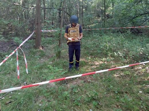 Збираючи у лісі гриби, ужгородець знайшов стару вибухівку
