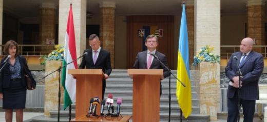 У Закарпатській ОДА відбулася зустріч міністрів закордонних справ України та Угорщини