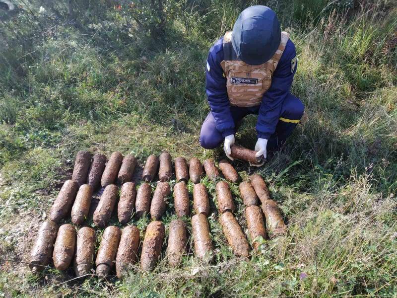 Під час збирання грибів на Ужгородщині чоловік натрапив на сховище артснарядів