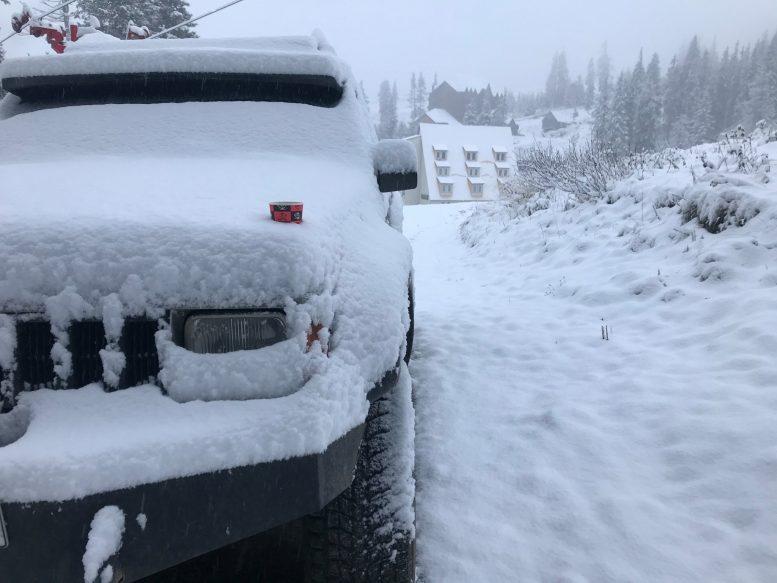 На Драгобраті випав сніг (фото)