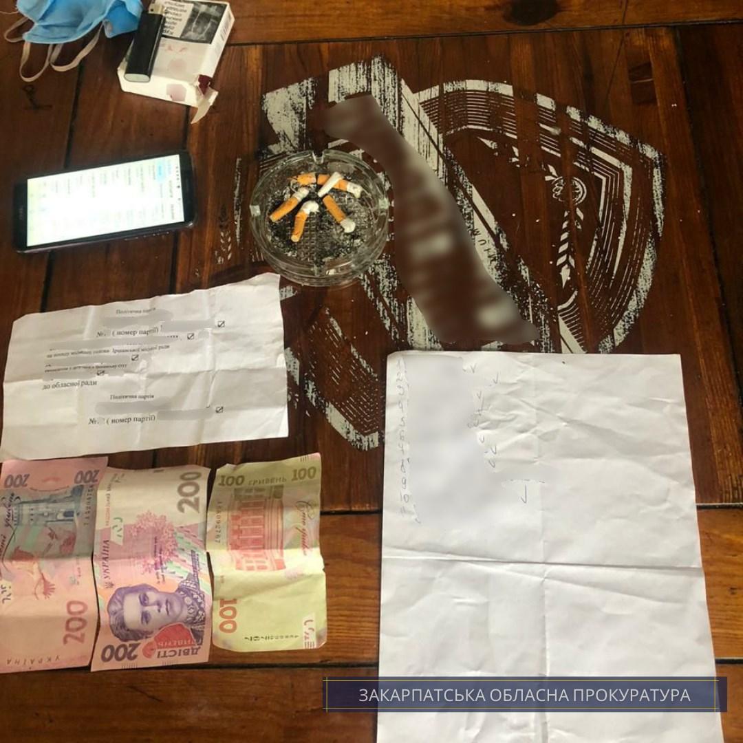 Жительці Іршави, яка здійснювала підкуп виборців, повідомлено про підозру