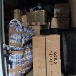 Закарпатські митники вилучили у водія мікроавтобуса незадекларований товар вартістю майже півмільйона гривень