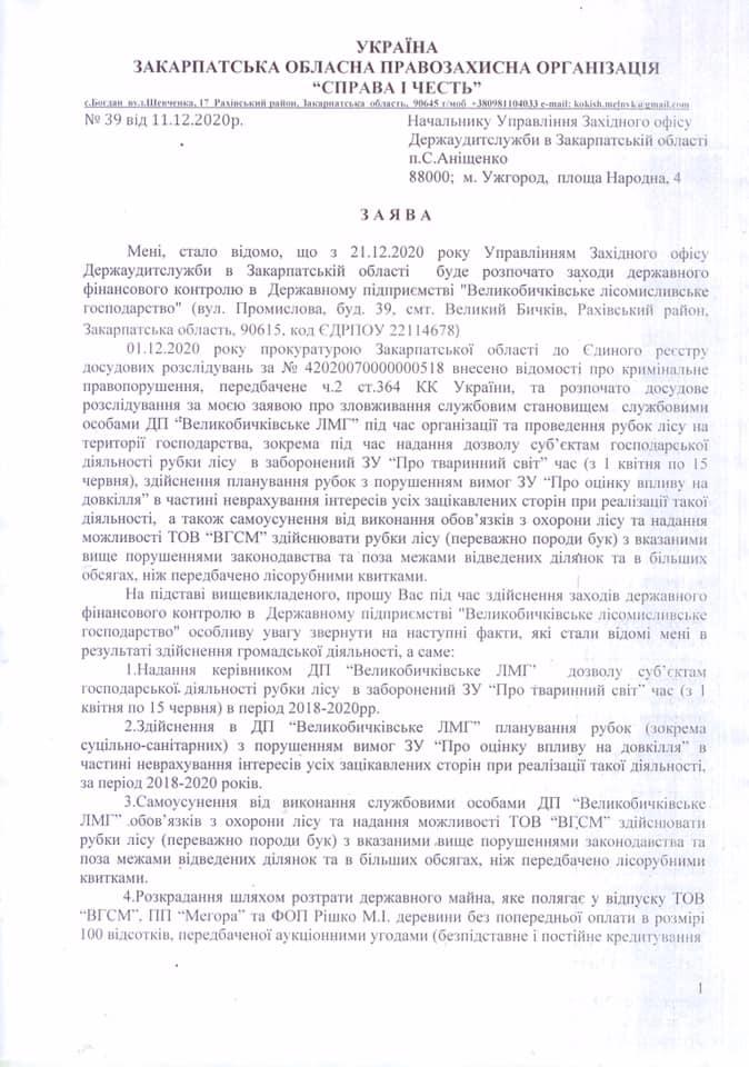 """Закарпатська лісова """"мафія"""" відвойовує позиції на Рахівщині (документ)"""