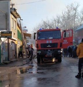 В Хусті через несправну електропроводку сталася пожежа в універмазі