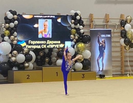 """На всеукраїнському турнірі """"срібло"""" і """"бронзу"""" вибороли закарпатські гімнастки"""